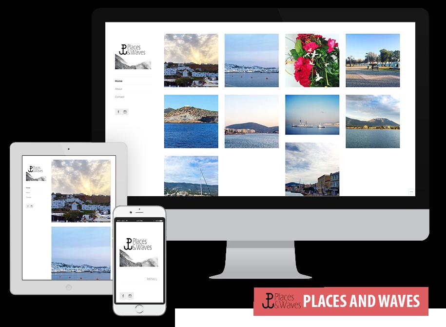 Το <a href='https://placesandwavesgr.wordpress.com/'>Places &amp; Waves</a> είναι ένα website που φιλοξενεί φωτογραφίες από όλη την Ελλάδα. <br/>Έχει υλοποιηθεί δωρεάν μέσω του Wordpress CMS<br/>Περιλαμβάνει:<ul><li>Δομή Portfolio στην αρχική σελίδα</li><li>Μενού</li><li>Φόρμα Επικοινωνίας</li><li>Σύνδεση με Social Media</li></ul>